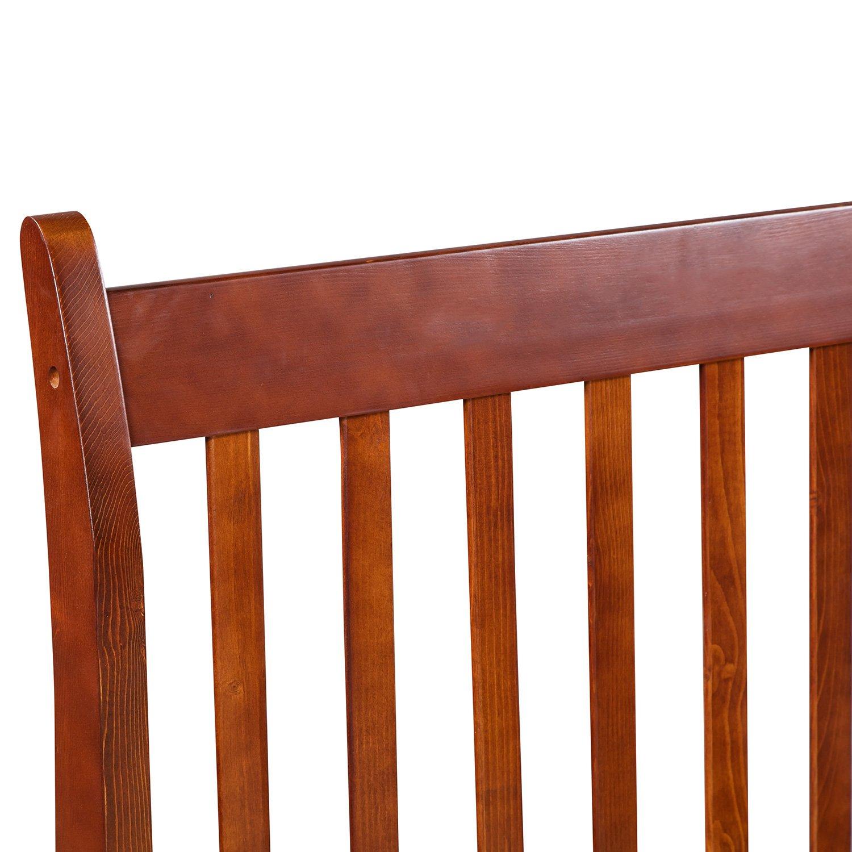Merax with Wood Slat Support, Twin (Walnut.) Platform Bed Frame Mattress Foundation by Merax (Image #4)