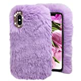Purple Furry Case for Galaxy S9,Soft Case for