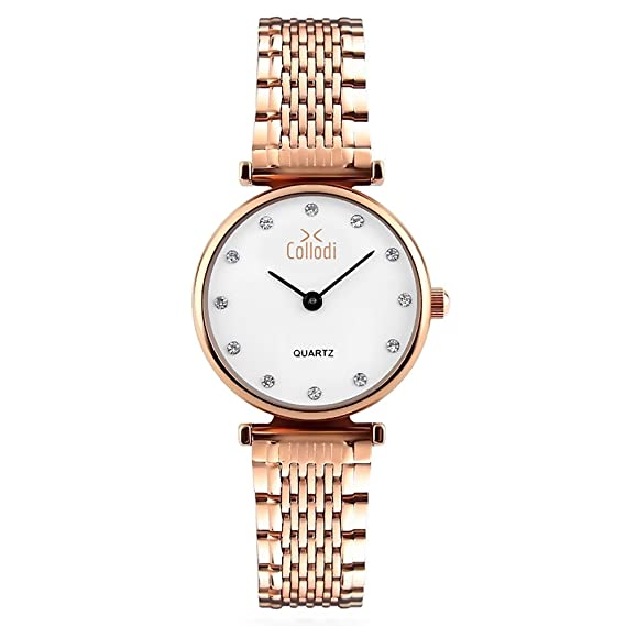 df3d2290d Collodi Women's Fashion Watch: Luxury Rose Gold Ladies' Quartz Watch  Cute  Fancy Casual Ladies' Watch with Rhinestones  Great Gift for Teens & Ladies