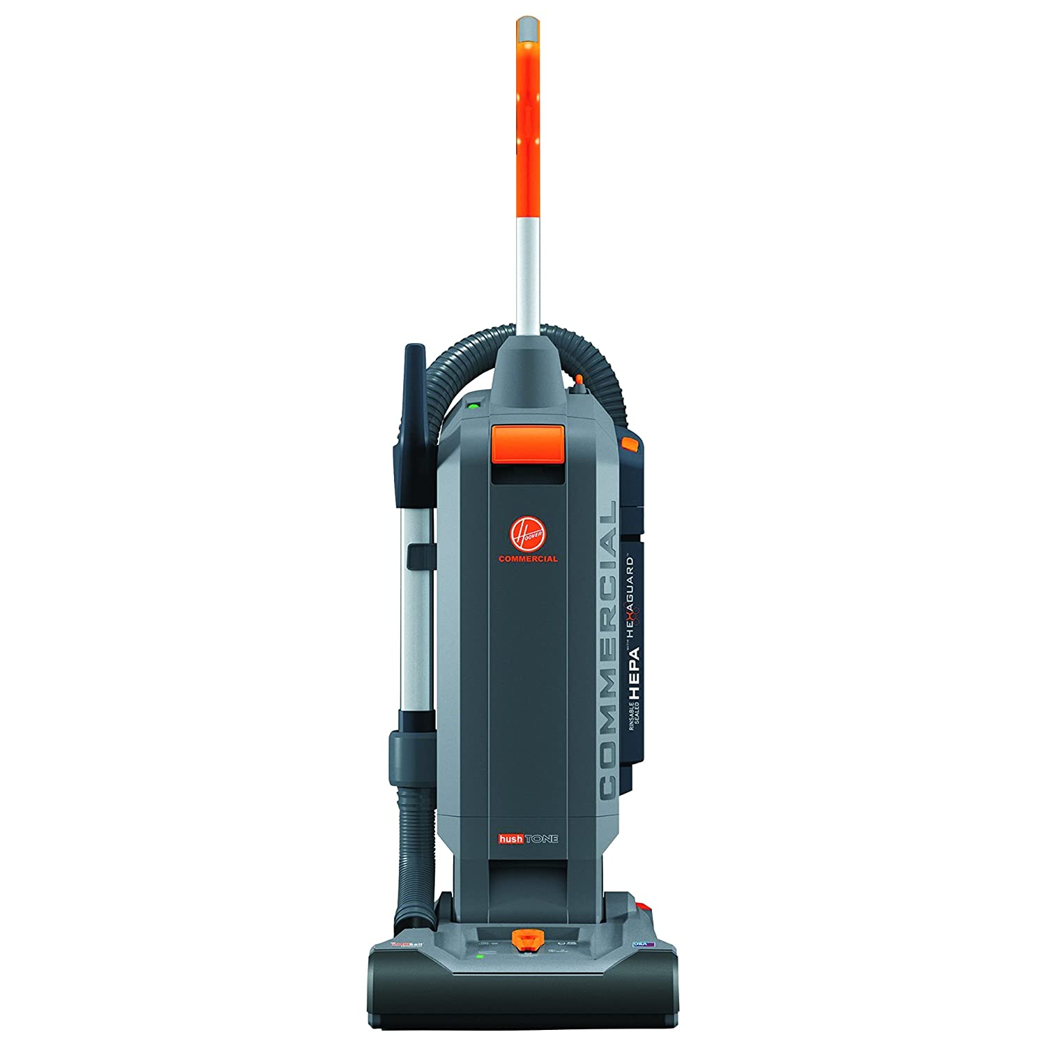 """Hoover Commercial CH54113 HushTone Hard-Bagged Upright with Intellibelt, 13"""""""