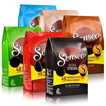 Senseo 48er Big Family Pack, de café, 6 variedades, 288 almohadillas/puerto de iones de litio: Amazon.es: Hogar