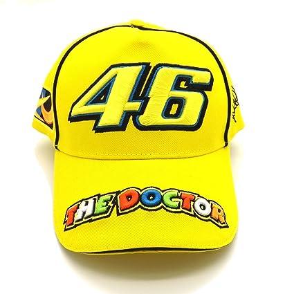 Valentino Rossi 46 el béisbol Doctor Moto GP Gorra Amarilla Oficial Nueva
