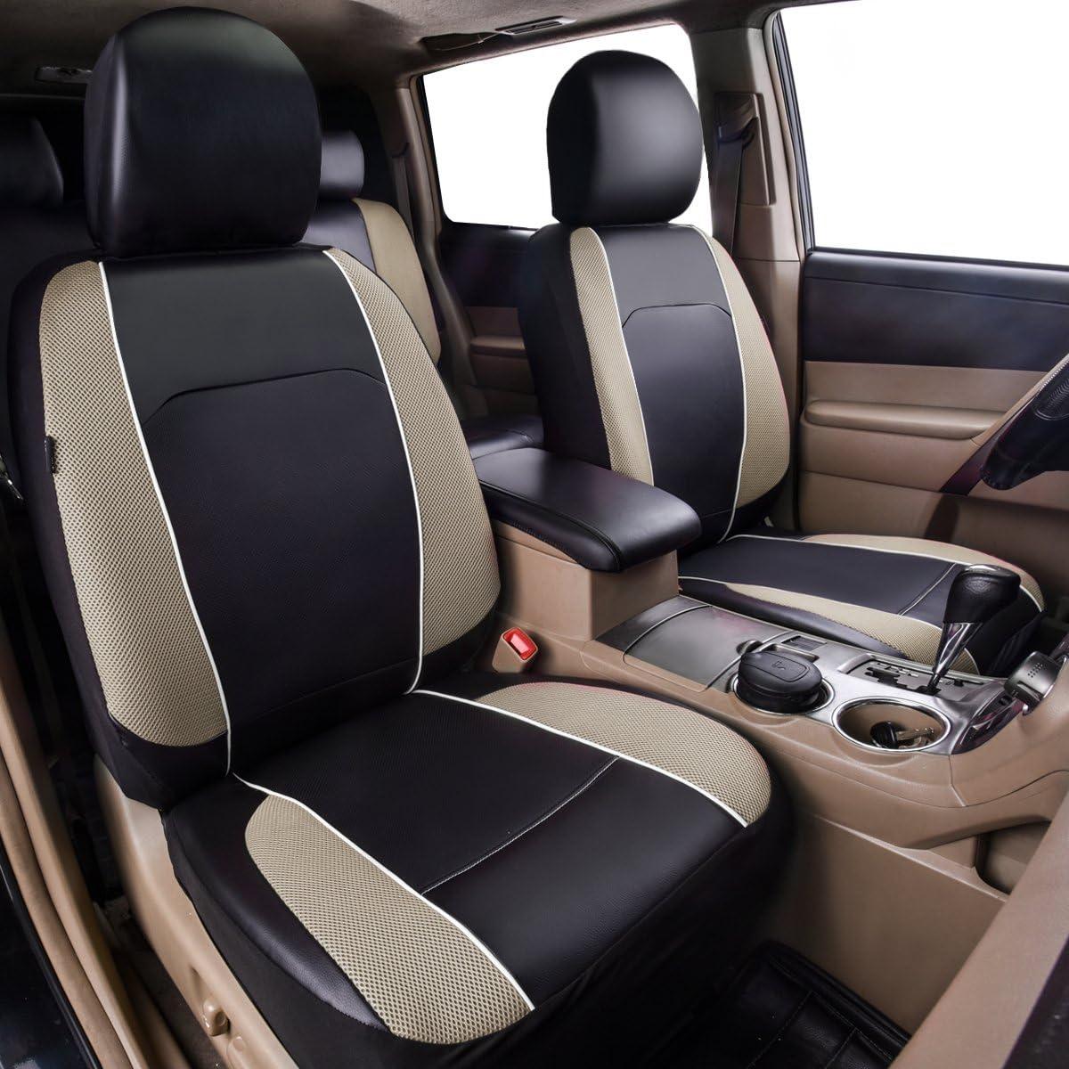 compatibles avec Airbag camions Cheval Kingdom Housses de si/ège de Voiture universelles en Simili Cuir pour Voitures camionnettes SUV