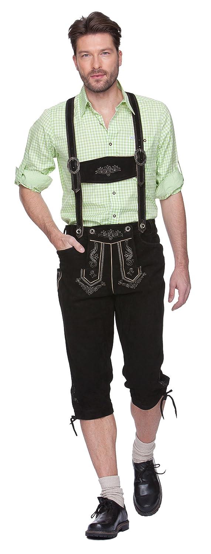 Herren Trachten Lederhose Marke STOCKERPOINT, Art. Justin2, Größe:58;Farbe:schwarz