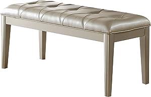 ACME Furniture Acme Voeville II Platinum Pu Bench