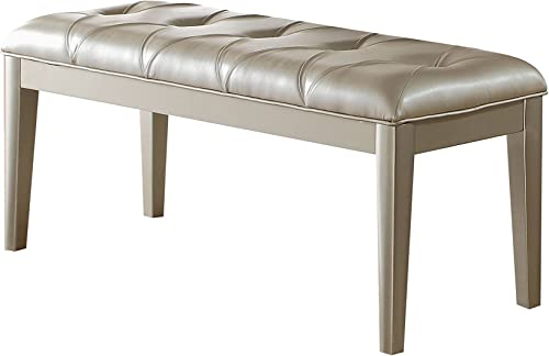 ACME Furniture Acme Voeville II Platinum Pu Bench