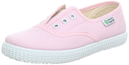Natural World INGLES - Zapatillas de casa de lona infantil, color rosa, talla 21: Amazon.es: Zapatos y complementos