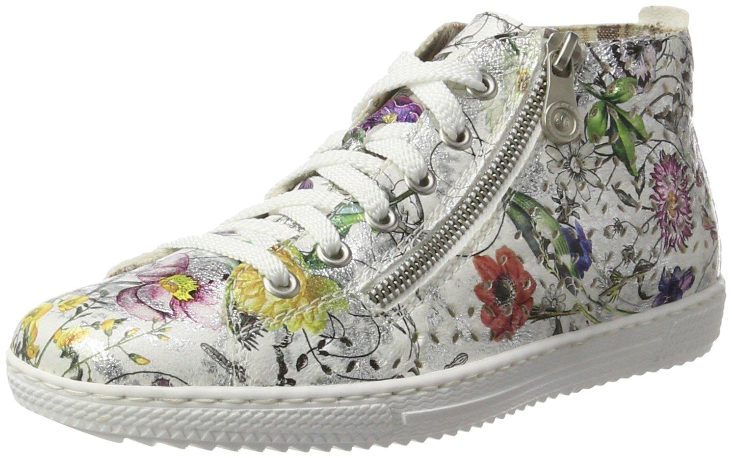 Rieker L9426, Zapatillas Altas para Mujer 41 EU|Multicolor (Ice-multi)