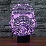 SUAVER Star Wars Stormtrooper 3D 7-Color Gradual Changing LED Touch Switch Visualization Illusion Atmosphere Light Desklamp Nightlight