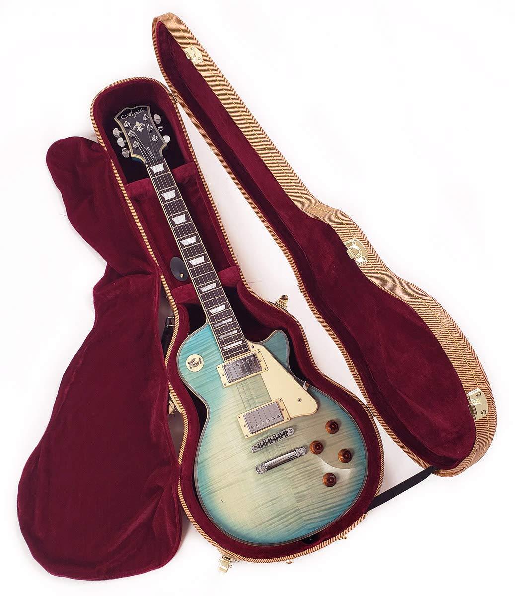Douglas EGC-400LP Tweed/Burgundy Premium Case for Gibson & Epiphone Les Paul Guitar