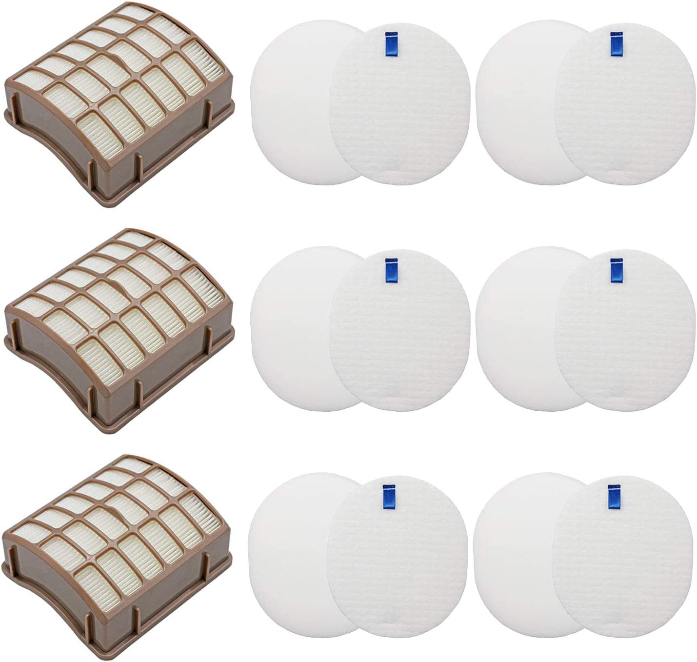 Lemige Vacuum Filter Replacement for Shark Navigator Rotator Professional NV70 NV71 NV80 NV90 NV95 UV420, Compare to Part XHF80&XFF80, 3 HEPA Filters +6 Foam Filters + 6 Felt Filters