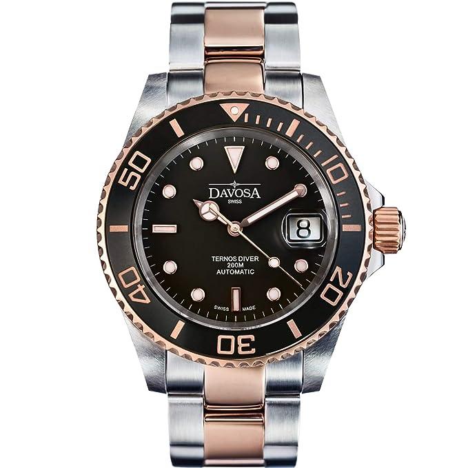 Davosa Swiss Made Men Wrist Watch, Ternos Ceramic 16155565 Professional Automatic Analog Display & Luxury Bezel