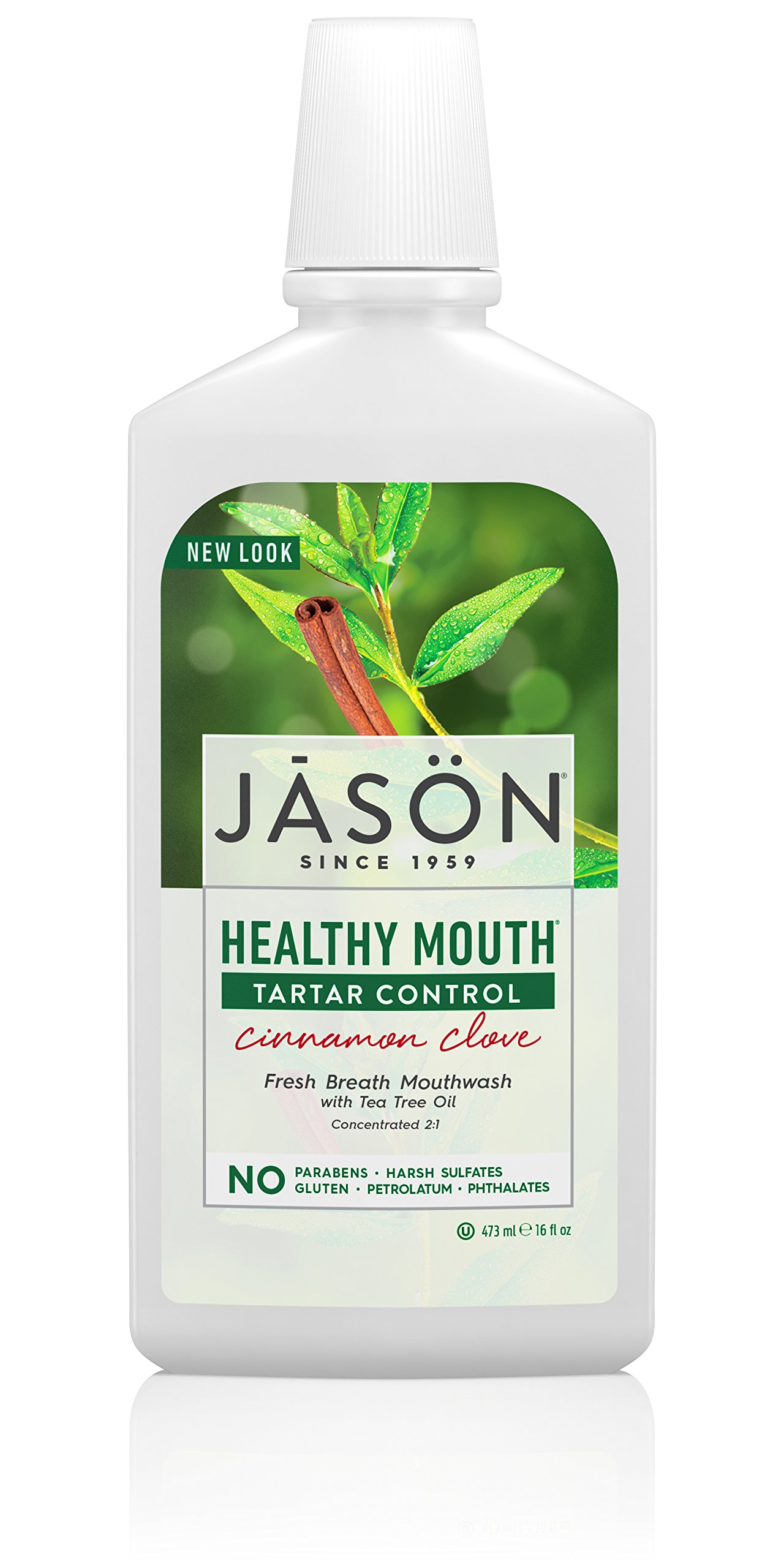 JASON Natural Healthy Mouth Naturally Bacteria-Fighting Mouthwash 16.0 oz