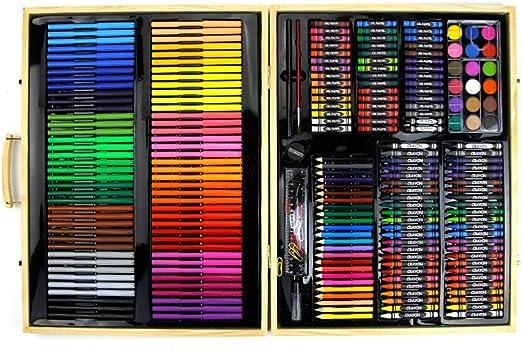 Kanqingqing Caja Colores Niños 251 Pinturas de Madera para Objetos ...