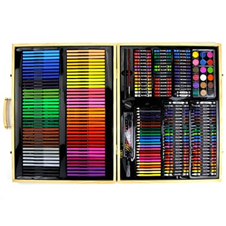 Kanqingqing Caja Colores Niños 251 Pinturas de Madera para ...