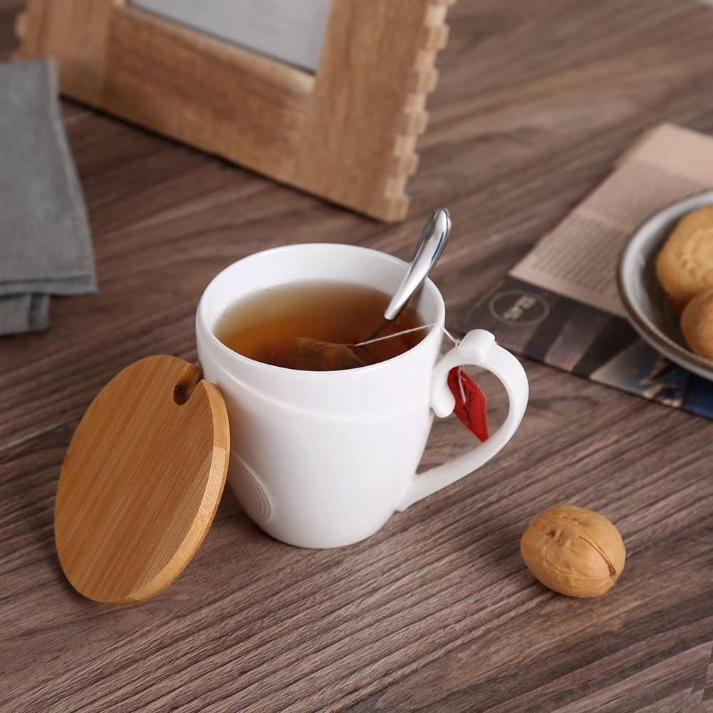Tazón de te con tapa de bambú