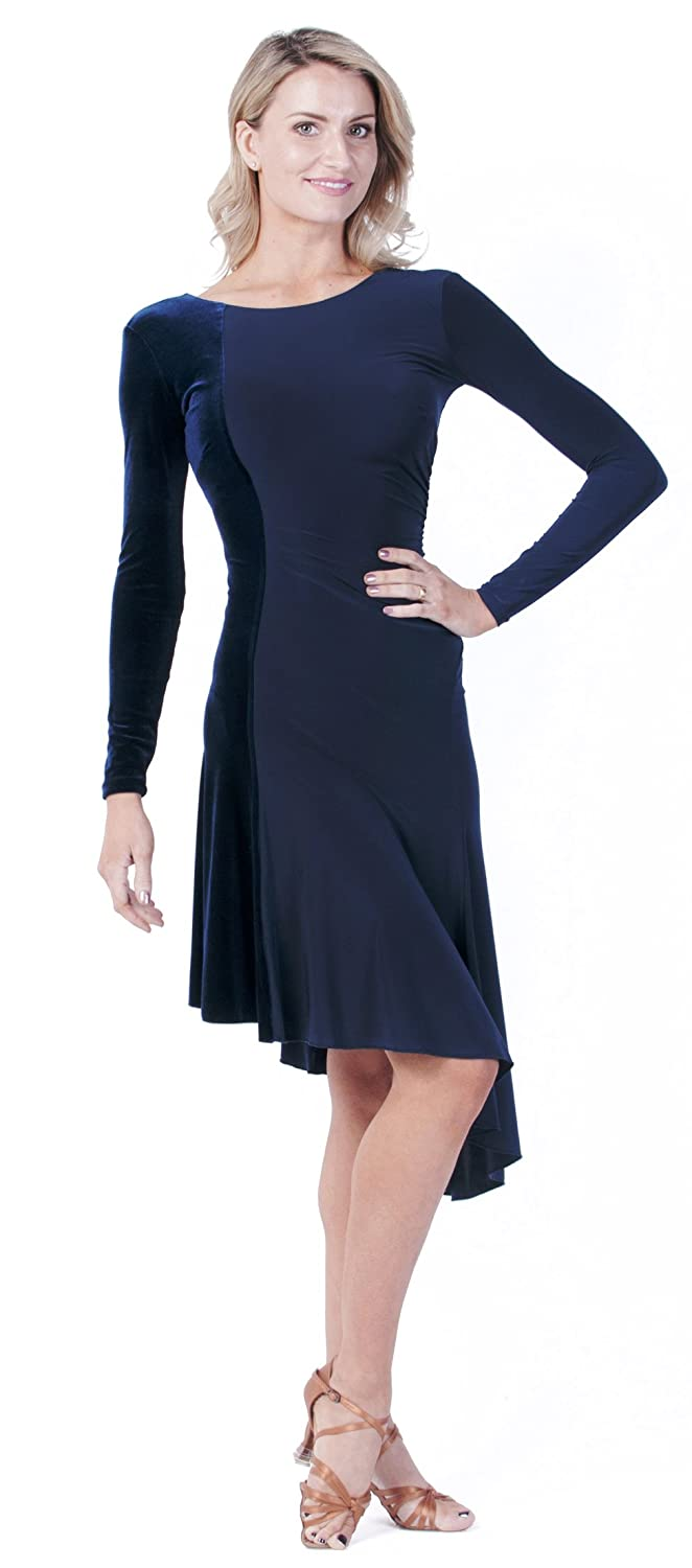Navy & Velvet Ballroom Latin Marissa 2Toned Dress