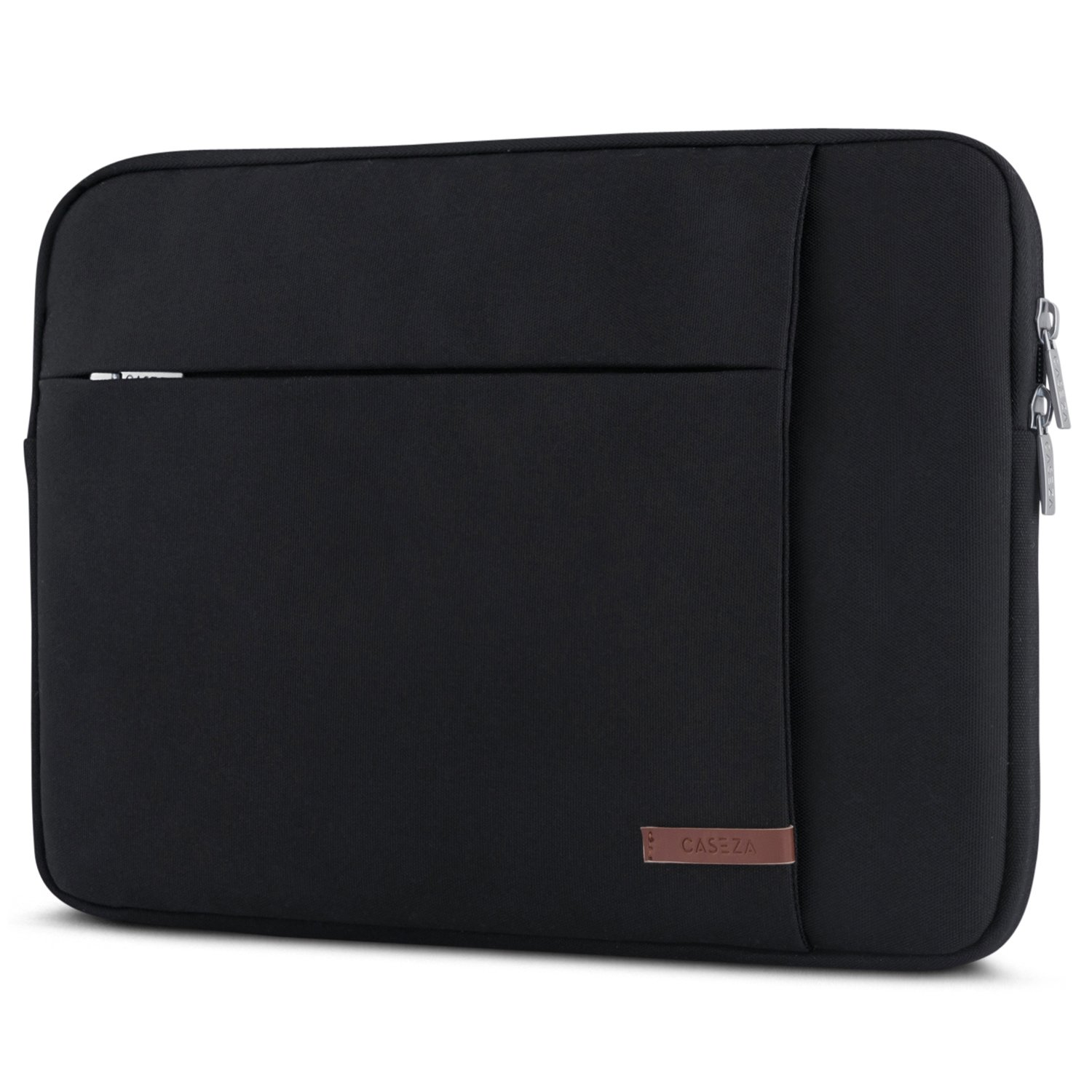 Laptop Sleeve 14 Inch/MacBook Pro 15'' Black - CASEZA London Notebook Bag for 14'' Laptops, MacBook Pro 15'', Dell XPS 15, HP Acer Asus & more - Water Resistant 14'' Ultrabook Case with Two Pockets