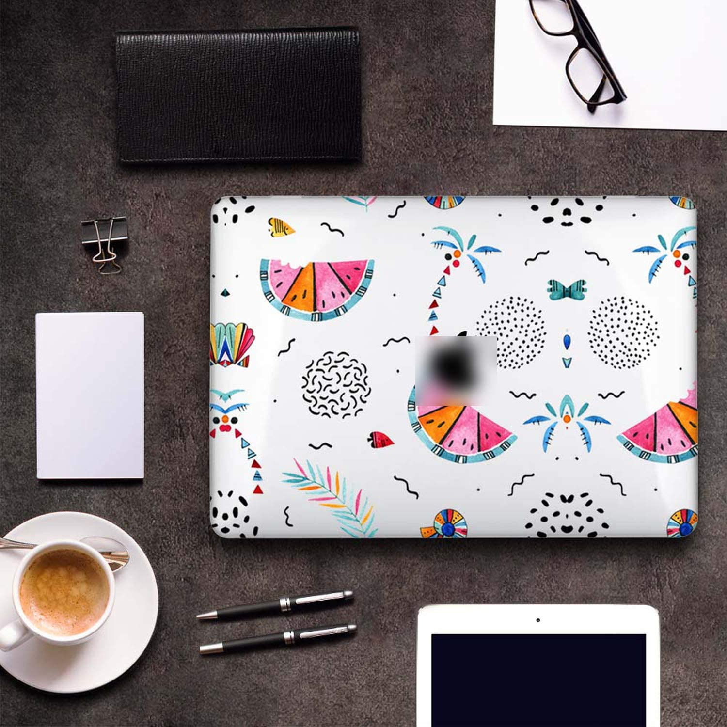 Plastic Hard Case Cover for MacBook 12 Air Pro Retina 11 13 15 for Mac Book New Pro 13.3 15.4 Touch Bar A2159 Summer Pattern-B030-Pro 15 Retina A1398