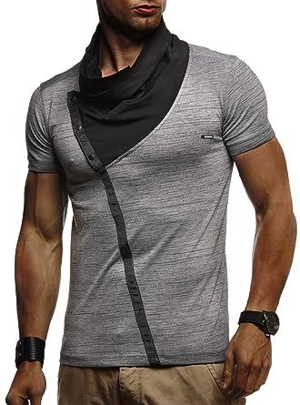 0d15d8027073 LEIF NELSON Herren Sommer T-Shirt modernes Sweatshirt Crew Neck Stehkragen  Kurzarm Longsleeve Basic Shirt Freizeit Hemd LN1020  Amazon.de  Bekleidung