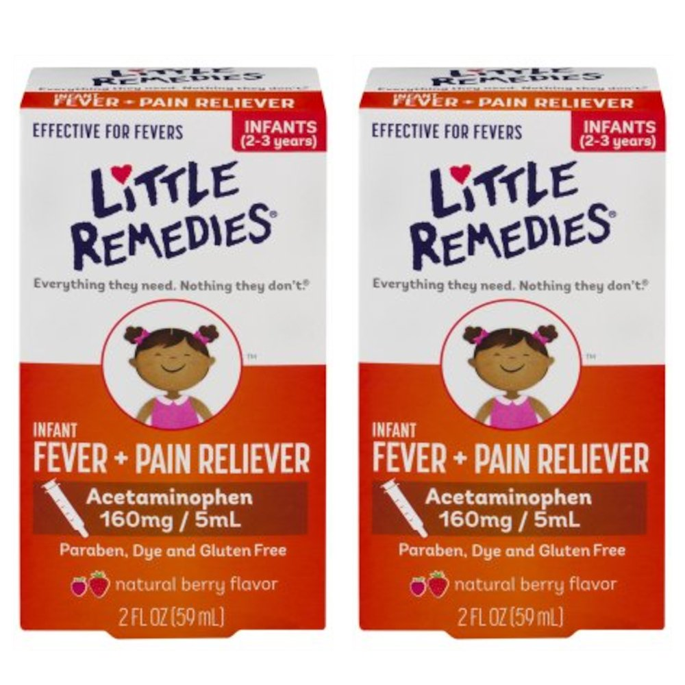 Little Remedies Fever Pain Reliever, Natural Mixed Berry Infants, 2 Fluid Ounce (Pack of 2)