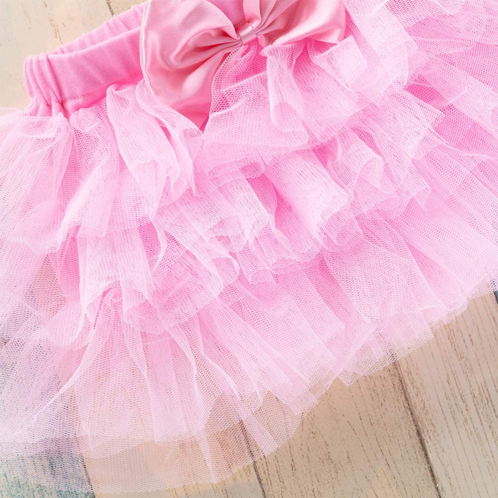 Baby Girls Soft Tulle Rainbow Tutu Dress Birthday Skirt 0 to 36 Months for Wedding Party
