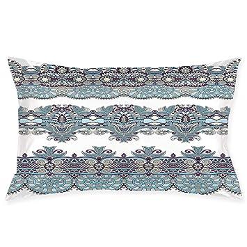 Amazon.com: YABABY Funda de almohada, diseño abstracto de ...