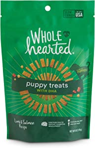 WholeHearted Lamb & Salmon Flavor Puppy Treats with DHA, 6 oz.