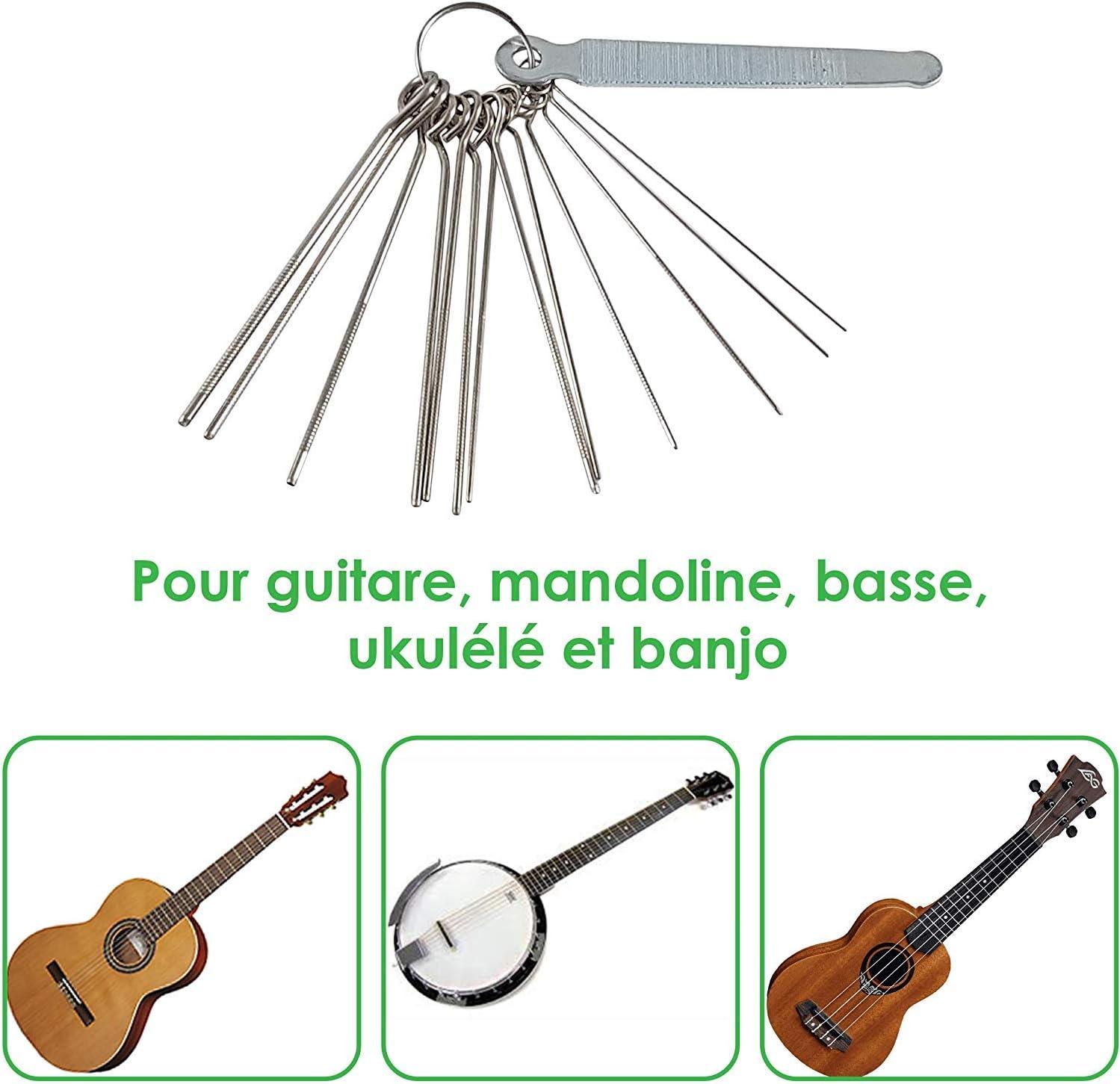 blau Praktisch Werkzeug Set 14 Feilen für Gitarren Sattel Einschleifen