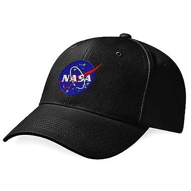 31c90f3a NASA Embroidery Logo Cap (Black): Amazon.co.uk: Clothing