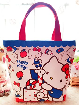 e3055ea084fe Image Unavailable. Image not available for. Color  CJB Sanrio Hello Kitty  Lovely Multipurpose Lunch Bag ...