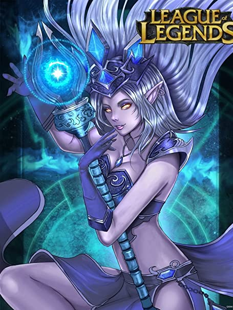 Lol League Of Legends Hot Sexy Janna Mage Girl Game Fan Art 32x24 Poster Print Amazon Co Uk Kitchen Home
