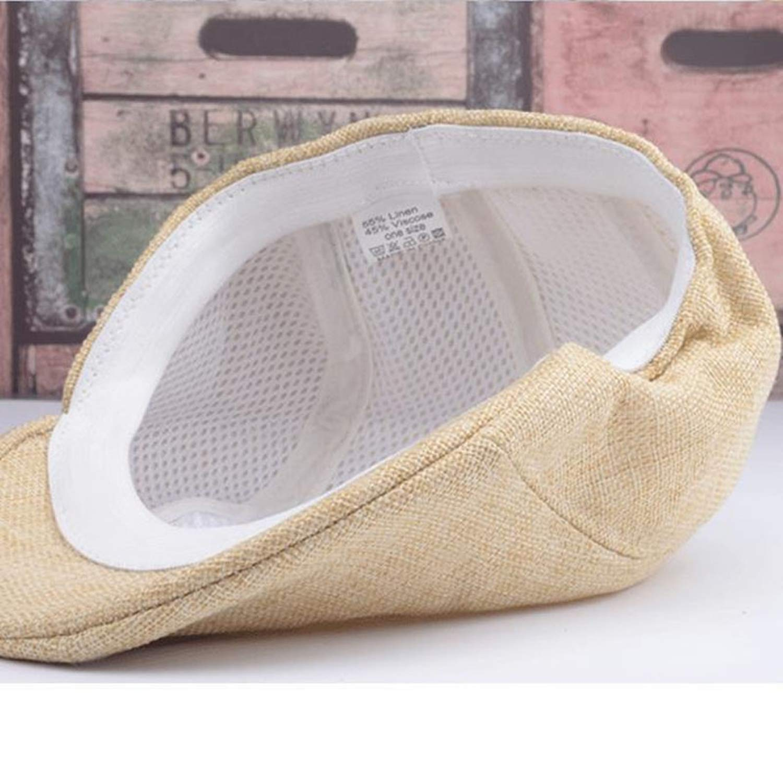 UKURO Men Women Newsboy Flat Cabbie Driving Hats Breathable Cotton Sunbonnet Beret Cap