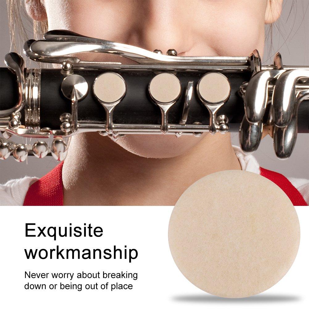 Alomejor 17 piezas de calidad Duradera Juego de almohadillas para clarinete Clarinetes Reparacion de repuestos Accesorios