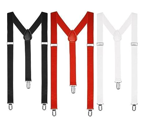 più popolare autentica di fabbrica più foto Boolavard Bretelle Uomo Donna bretelle Y clip forma Style restringono  colorati neon colorato