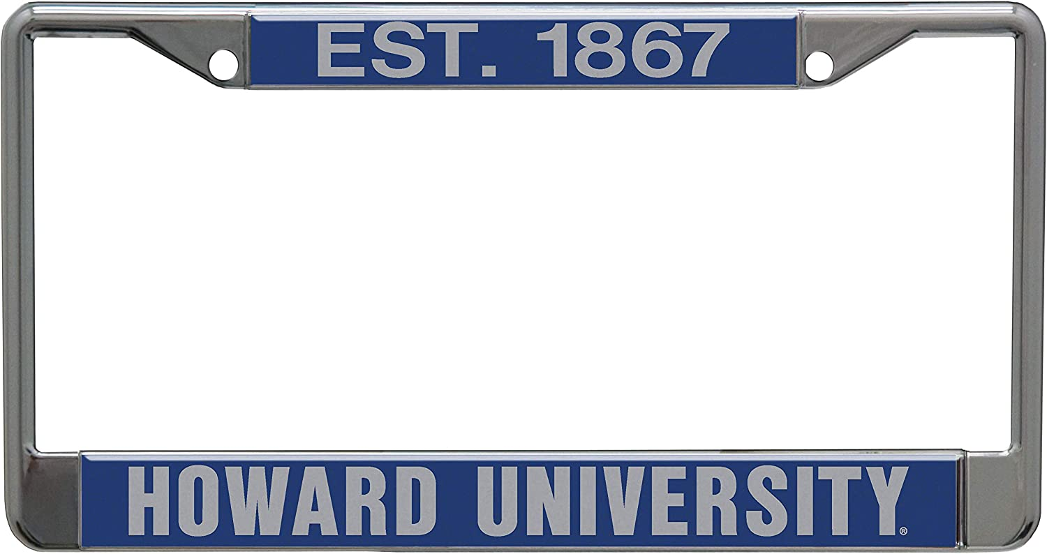 WinCraft Howard University Established 1867 Premium License Plate Frame Metal with Inlaid Acrylic 2 Hole