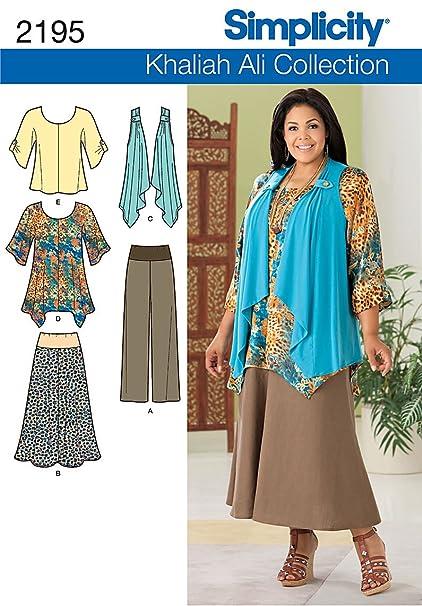 Amazon Simplicity Khaliah Ali Collection Pattern 2195 Womens