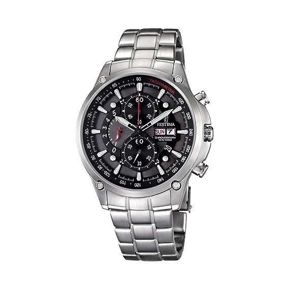 Festina Sport F6817/2 - Reloj cronógrafo de cuarzo para hombre, correa de acero