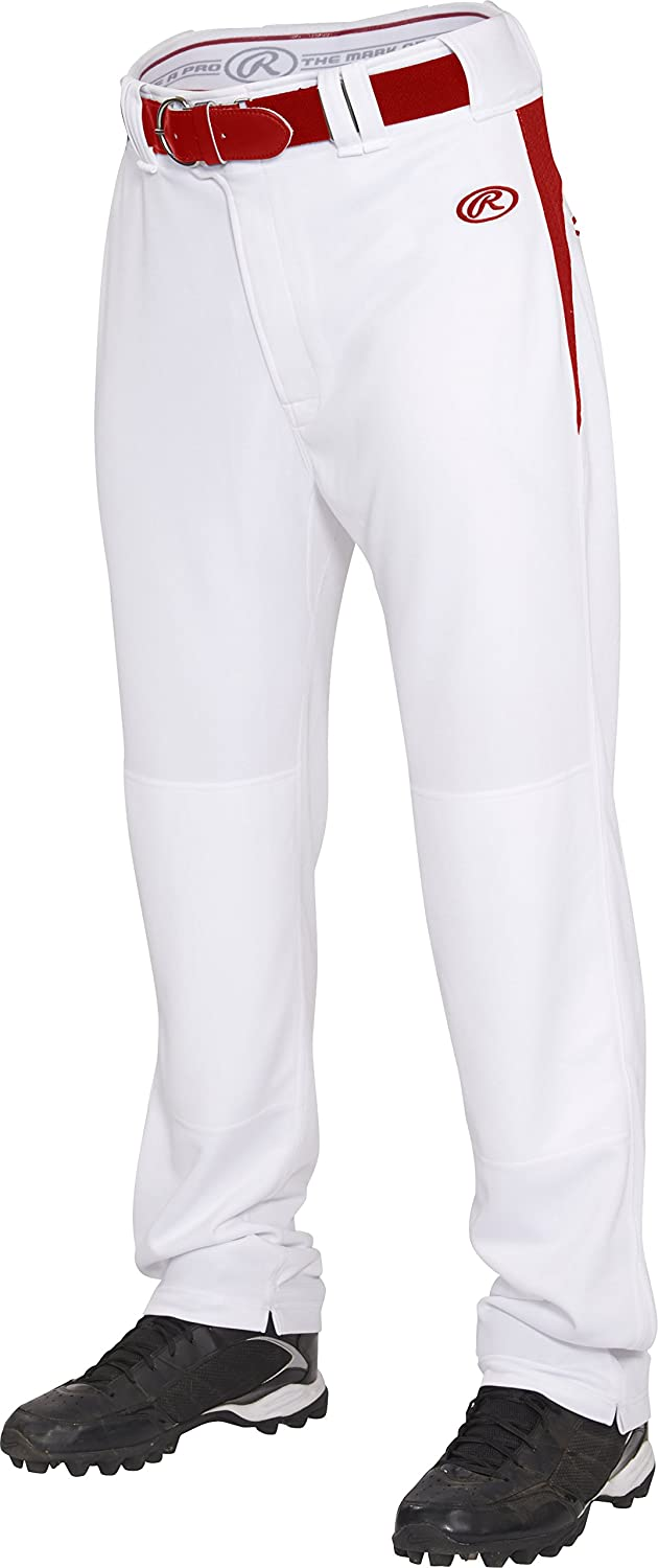 Rawlings Youth semi-relaxedパンツwithウエスト挿入 B013I2J37W X-Large|ホワイト/スカーレット ホワイト/スカーレット X-Large