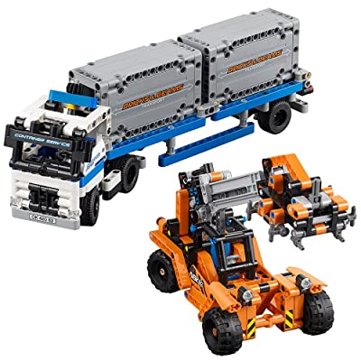LEGO Technic Container Yard 42062 Building Kit (631 Piece): Toys & Games