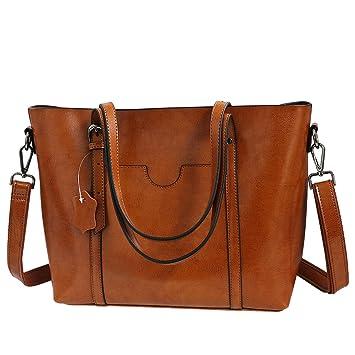 3a91a763f5e85 klighten Umhängetasche Damentasche Handtasche Damen-Handtasche Ledertasche  Shopping-Tasche Abendtasche Vintage Braun