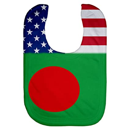 Amazon com: ExpressItBest Microfiber Baby Bib - Flag of