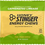 Honey Stinger Energy Chews, Limeade, Naturally Caffeinated, Sports Nutrition, 1.8 Ounce (Pack of 12)
