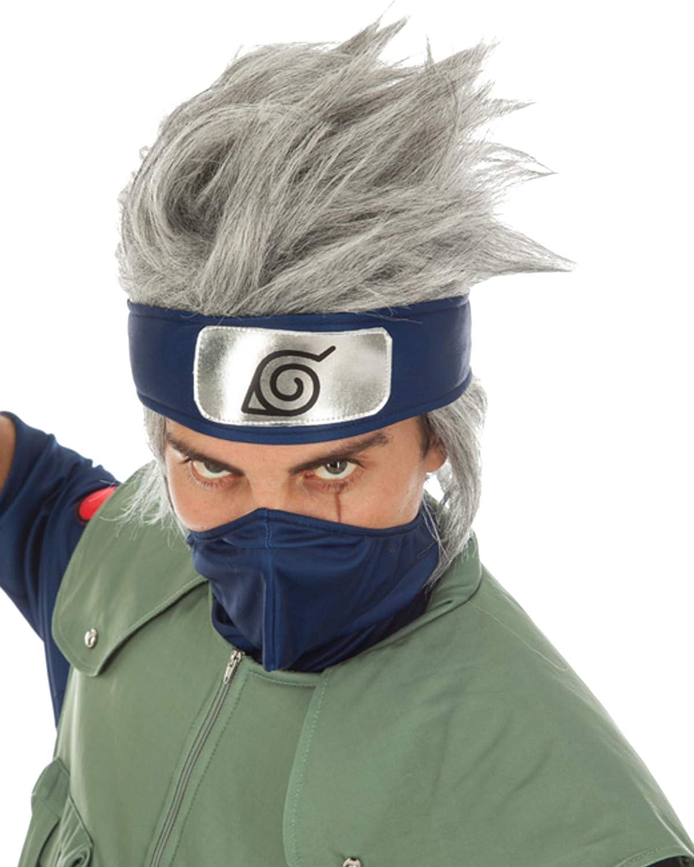 Chaks Naruto Peluca Kakashi Hatake Traje Accesorio Gris: Amazon.es ...