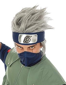 Chaks Naruto Peluca Kakashi Hatake Traje Accesorio Gris ...