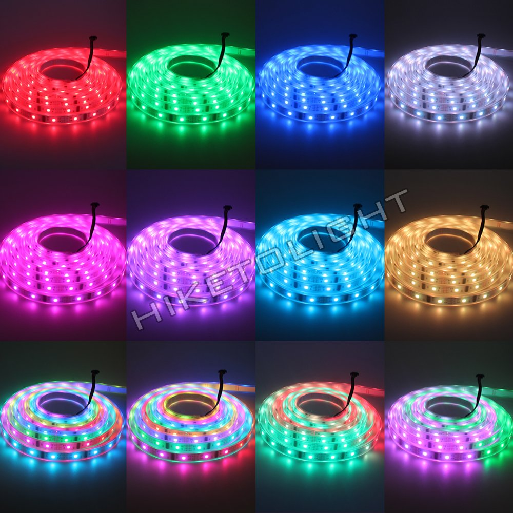 SNKYY Waterproof Led Strip Light 32.8 Ft SMD 3528 600Leds RGB Color Changing Lights Rope Kits with 44 Key Ir Controller Power Supply for Home Kitchen Indoor Christmas Decoration LED Light Strip
