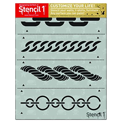 Amazon com: Chains 4-Pack Stencil Set