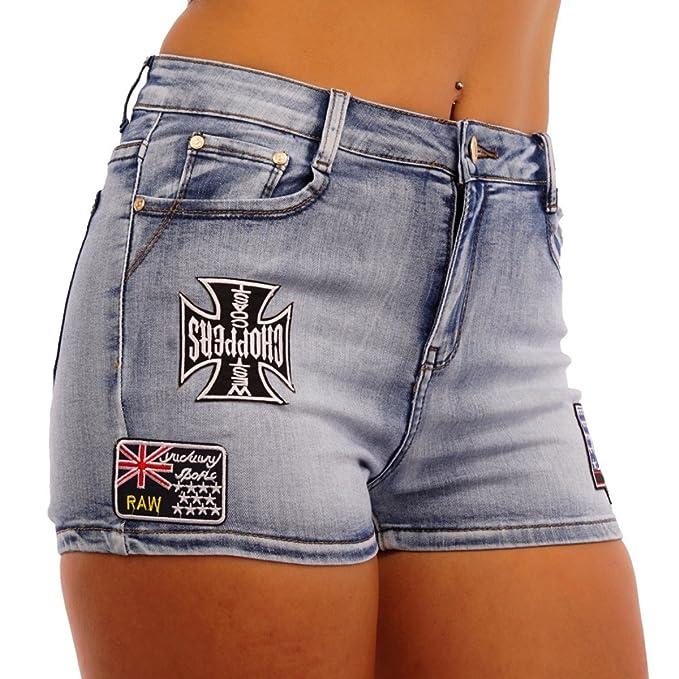 11229 Fashion4Young Damen Jeans Hotpants Shorts kurze Hose Hot Pants Panty  Stretch-Denim  Amazon.de  Bekleidung 4926532eee