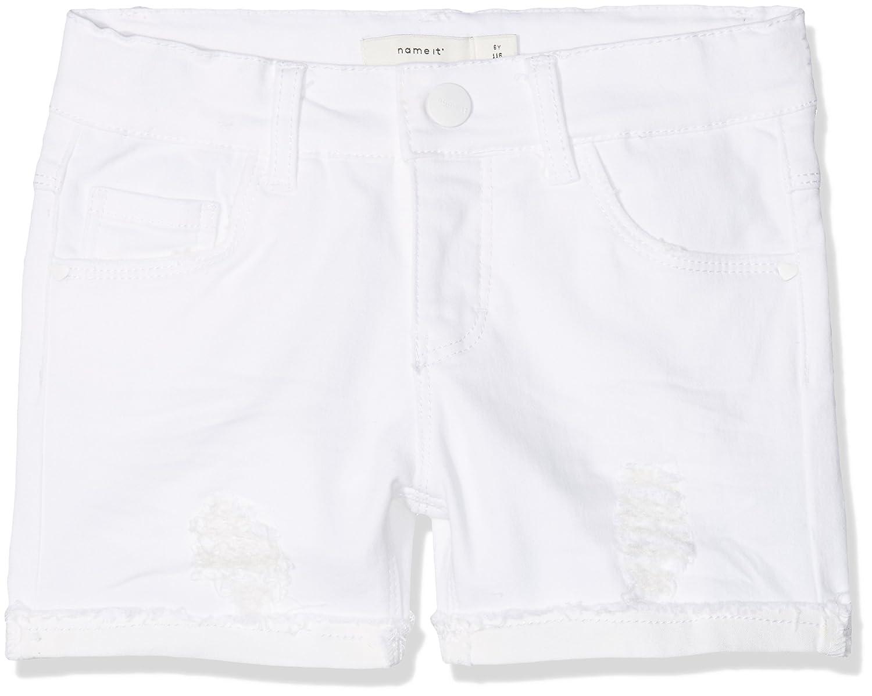 NAME IT Pantalones Cortos para Ni/ñas