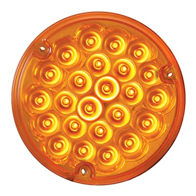 "Grand General 87585BP Pearl Amber 4"" 24 LED Sealed Light with Amber Lens and Pigtail (#1157): Automotive"